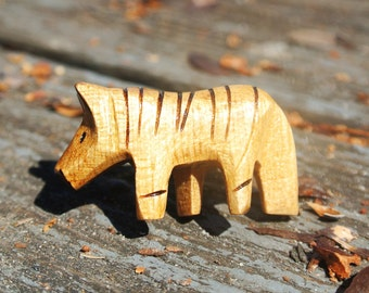 Wooden Zebra Totem Adjustable Ring