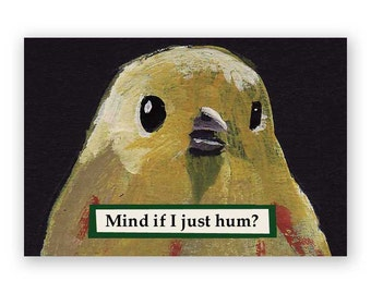 Hum Magnet - Bird - Animal - Music - Gift - Humor - Nature - Mincing Mockingbird