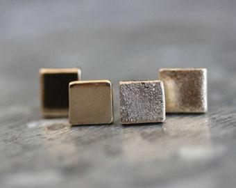 Handmade Solid Gold Mini Geometric Earrings