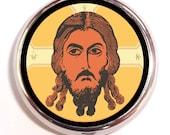 Jesus Pop Art Pill Box Case Pillbox Hippie Music Festival Spirituality Christianity
