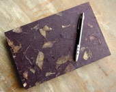 CUSTOM SIZE Guest Book, Dark Purple, unlined TORN pages