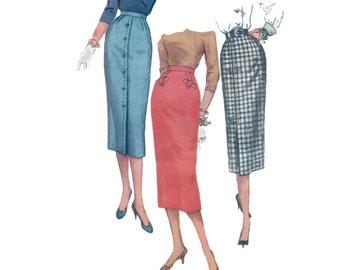 50s Pencil Skirt pattern vintage 32-25-34 New Look Skirt pattern Slim Skirt pattern Simplicity 1690