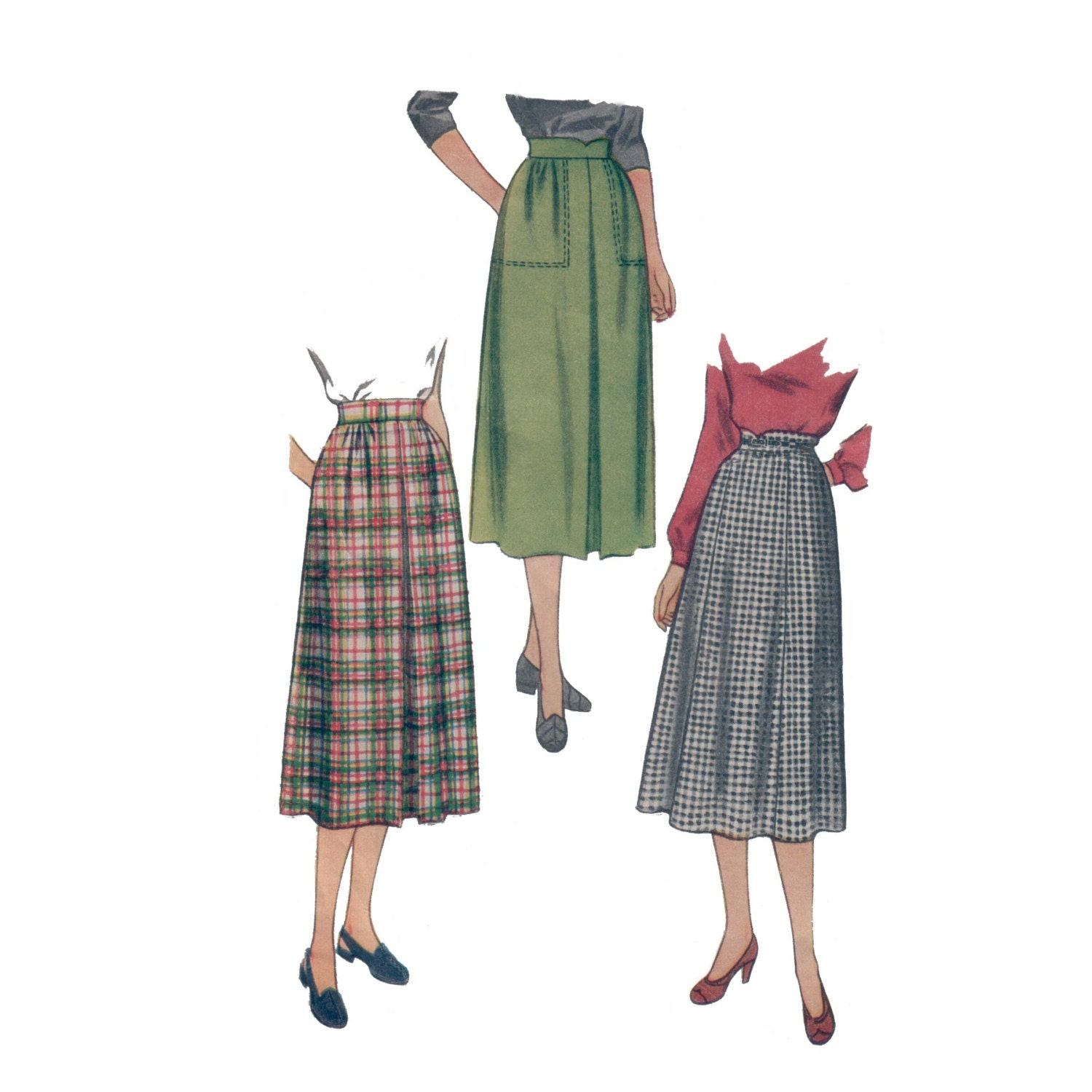 50s skirt pattern pleated skirt pattern vintage 36 28 37 waist