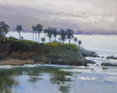 Morning Mist in Laguna - Original Oil Painting of Laguna Beach - Laguna Beach Painting - Seascape Painting - Living Room Art