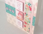Girl Vintage Retro Handmade Card  / Valentine Birthday / Blank All Occasion / Crate Paper Oh Darling