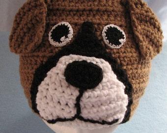 Crochet Pattern - Boxer Hat Pattern -Dad Hat - Women's Hat - Animal Hat - Boxer Dog - PDF - Digital Download