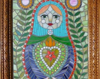 Matryoshka- nesting doll mosaic