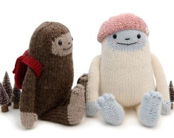 Yeti and Sasquatch Knitting Pattern