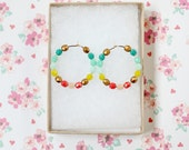 Colorful Gold Filled Hoops