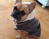 custom made -  pet dog  clothing - pet winter jackets coats - made to order  and individually crafted for a perfect fit