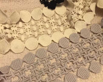 Cotton Crochet Style Lace Trim 2 Yards