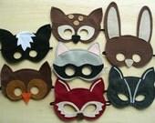 Set of 8 Woodland Masks