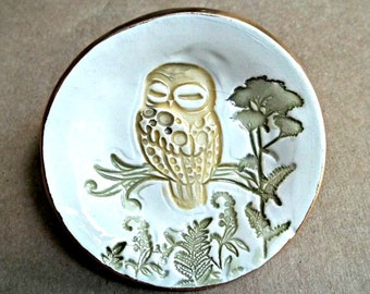 Ceramic Owl small Ring Bowl