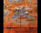 Was 225 Now 199,Original Art for Sale,Fine Art, Metal Artwork,Abstract,Landscape,Tree, Modern,Copper,Painting,Karina Keri-Matuszak,Lone Soul