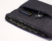 MacBook Air Case 11 or 13 inch Laptop Cover Sleeve - Black Denim