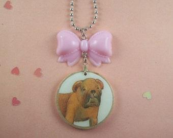 Bulldog Bow Necklace