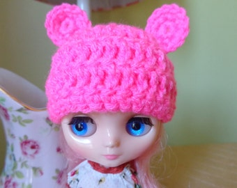 HOT PINK bear ears for MIDDIE