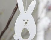 3 Easter bunnies - in white plexiglas