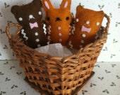 Handmade Miniature Gingerbread Animal Cookies Adorable!