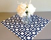 Table Square - Premier Prints GiGi Premier Navy - chose size - Blue Home Decor- Overlay - spring colors - home dec