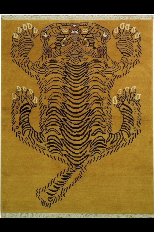Tibetan Tiger Rug Gabbeh Wool On Cotton