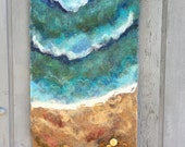 RESERVED - No.10 Beach Star - Wet Felted Wall Hanging