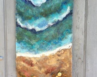No.10 Beach Star - Wet Felted Wall Hanging