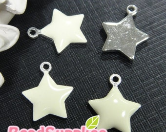 CH-EX-01001OW - Puffy Star, off white, 6 pcs