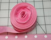 "Pink with white polka dots ribbon 1"" wide x  5 yards"