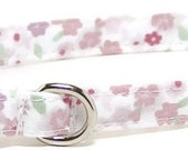 XS Dog Collar - Soft Purple Floral - Extra Small, Teacup, Miniature - Cute, Pretty and Fancy