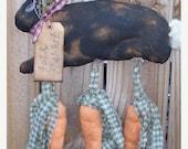 Flash Sale Primitive Folk Rabbit Door Hanger