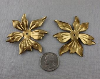 Giant Vintage Brass Flower Findings Pendants 60mm