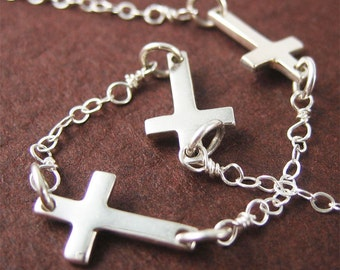 Cross Bracelet Faith Jewelry Modern Jewelry Charm Bracelet Christmas and Birthday Gift for her