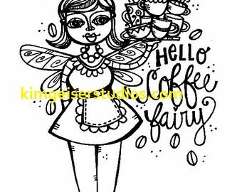 Coffee Fairy digital download