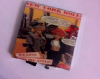 Barbie New York Dolls Square Pillbox Mintbox Trinket box