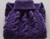 Dog Sweater, Knit Dog Sweater, Purple Dog Sweater, Dog Coat, Violet Dog Sweater