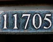 Mosaic House Number on Slate 5 digit