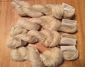 Undyed silk-merino superwash blend sock yarn, 50g hanks