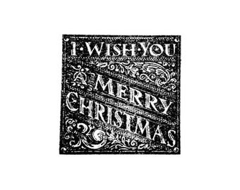 I wish you a Merry Christmas Rubber Stamp