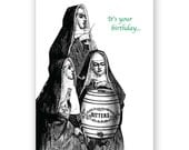 Nuns Party for your Birthday - Card