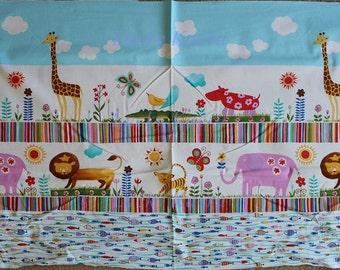 Alexander Henry Jungle Stripe Pastel OOP Fabric Panel