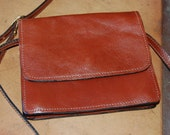 euc MADE IN ITALY leather cross body bag purse pouch travel belt wallet