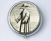 Plague doctor Pill Case pillbox holder box psychobilly gothic punk odd death