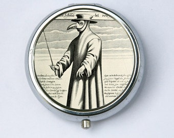 Plague doctor Pill Case pillbox holder box psychobilly gothic punk odd death