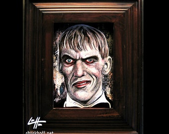 You Raaang? - Original Drawing - Lurch The Addams Family Dark Art Horror Comedy Vintage Halloween Gothic Morticia Wednesday Gomez Pop Art