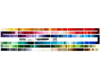 Robert Kaufman KONA cotton Solid color card 303 colors Newest Version!