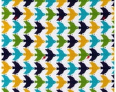 CLEARANCE 1/2 YARD - Cosmo Textiles, Japanese, Birds, Berries, Dobby Fabric, Green, Mustard, Teal