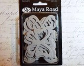 Maya Road: LARGE Butterfly Chipboard - 10 Designs In a 20 Piece Set