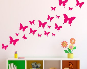 Butterfly Wall Decals - Butterfly Wall Stickers - Children Room Decor - wd1082