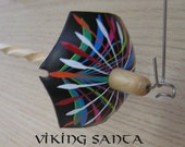 Viking Santa Drop Spindle ( EDS 0730) Leather whorle